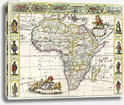 Постер Школа: Голландская 17в Map of Africa, from Nova Africa Descriptio, published in Amsterdam in the 1660s by Frederik de Wit
