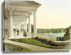 Постер Неизвестен Vintage postcard of the Terrace at Tsarskoye Selo, 1890s
