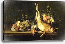 Постер Мелендез Луи Still Life with Game and Fruit