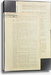Постер Школа: Америка (18 в) The United States Constitution, 1787