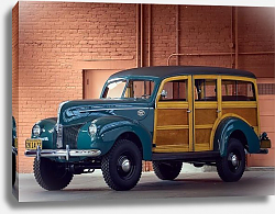 Постер Ford Standard Station Wagon by Marmon-Herrington '1940