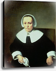 Постер Бол Фердинанд Portrait of a Lady with White Collar and Cuffs