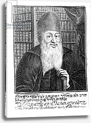 Постер Школа: Немецкая Portrait of Jonathan Eubeschutz, Chief Rabbi in Altona