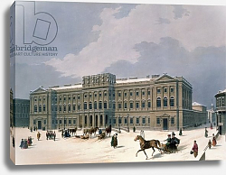 Постер Арнаут Луи (акв) Palace of the Grand Duke of Leuchtenberg in St. Petersburg, printed by Lemercier, Paris, 1840s