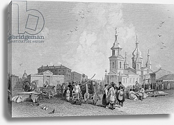 Постер Викерс альфред (грав, москва) The Haymarket, St. Petersburg, engraved by W. Chevalier