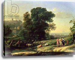 Постер Лоррен Клод (Claude Lorrain) Landscape with Cephalus and Procris Reunited by Diana, 1645