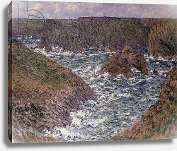 Постер Моне Клод (Claude Monet) Port Domois at Belle Ile, 1886