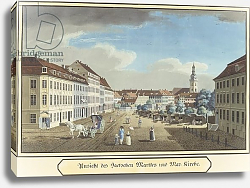 Постер Школа: Немецкая View of the Hackescher Markt and the Church of St. Mary, Berlin