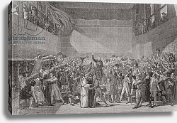 Постер Давид Жак Луи Oath taken at the Jeu de Paume, 20 June 1789, French Revolution