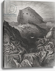 Постер Доре Гюстав The Dove Sent Forth From The Ark, Genesis 13:8-9, illustration from Dore's 'The Holy Bible', 1866
