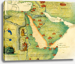 Постер Агнес Батиста (карты) Ethiopia, the Red Sea and Saudi Arabia, Venice, 1st September 1553