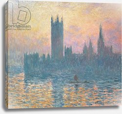 Постер Моне Клод (Claude Monet) The Houses of Parliament, Sunset, 1903