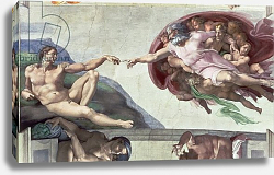 Постер Микеланджело (Michelangelo Buonarroti) Sistine Chapel Ceiling: The Creation of Adam, 1511-12