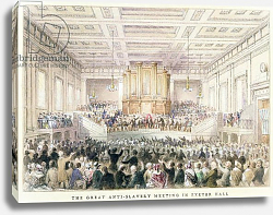 Постер Шепард Томас (акв) The Great Anti-Slavery Meeting of at Exeter Hall, 1841