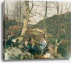 Постер Вальдмюллер Фердинанд Early Spring in the Vienna Woods
