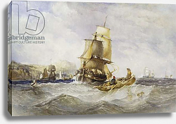 Постер Бентли Чарльз Shipping Off Scarborough, 1848