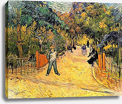 Постер Ван Гог Винсент (Vincent Van Gogh) Вход в общественный парк в Арле