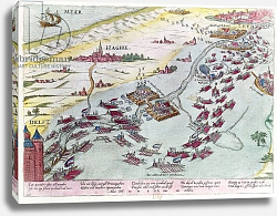 Постер Хогенберг Франц (карты) Naval Combat off the Coast of The Hague Naval between the Beggars of the Sea and the Spanish in 1573