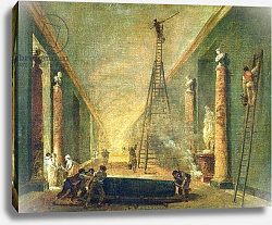 Постер Робер Юбер View of the Grand Gallery of the Louvre During Restoration, 1798-99