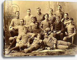 Постер Group portrait of the Michigan Wolverines football team. 1890