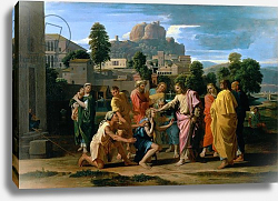 Постер Пуссен Никола (Nicolas Poussin) The Blind of Jericho, or Christ Healing the Blind, 1650