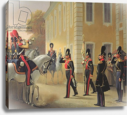 Постер Ге Николай Parading of the Standard of the Great Palace Guards, 1853