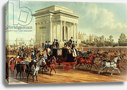 Постер Школа: Английская 19в. Hyde Park Corner, after James Pollard, published by Ackermann, 1836