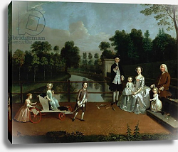 Постер Девис Артур A Family Group on a Terrace in a Garden, 1749