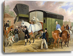 Постер Поллард Джеймс The Derby Pets- The Arrival 1840