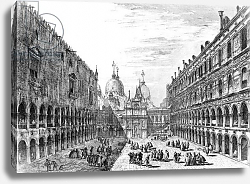 Постер Мариески Микеле View of San Marco from the Palazzo Ducale, Venice, engraved by Michele Marieschi, 18th Century