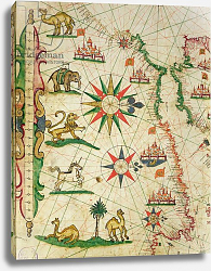 Постер Прунс Пьетро (карты) The North African Coast, from a nautical atlas, 1651