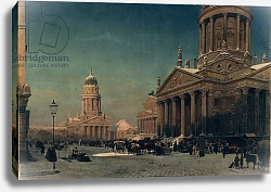 Постер Гартнер Эдуард Gendarmenmarkt in Winter, 1857