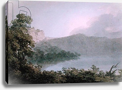 Постер Козенс Джон (акв) Lake of Vico Between Rome and Florence, 1783