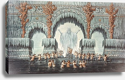 Постер Шинкель Карл Muehleborn's Water Palace, set design for a production of 'Undine',