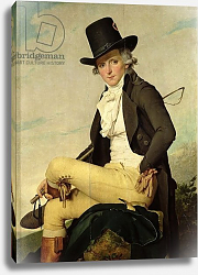 Постер Давид Жак Луи Portrait of Pierre Seriziat the artist's brother-in-law, 1795