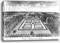 Постер Кинг Хайнц Kings Square in Sohoe, published by Thomas Glass and Henry Overton I, 1720-1730