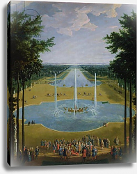 Постер Мартин Пьер View of the Bassin d'Apollon in the gardens of Versailles, 1713
