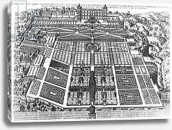 Постер Картаро Марио View of the Villa d'Este and Gardens, 1575