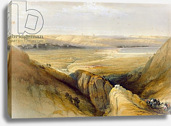 Постер Робертс Давид Jordan Valley, from Volume II of 'The Holy Land' by Louis Haghe, 1842