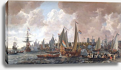 Постер Верхуер Лив The arrival of King Charles II of England in Rotterdam