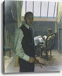Постер Нолкен Франц Self Portrait in the Studio, 1904