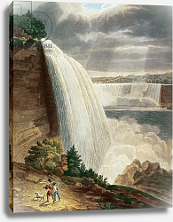 Постер Беннет Х. Дж. Niagara Falls, part of the American Fall from the Foot of the Stair Case, engraved by J. Hill