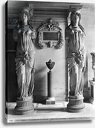 Постер Гирадон Адольф (фото, фр) View of two caryatids from the Caryatids' Tribune in the Louvre Museum, late 19th century