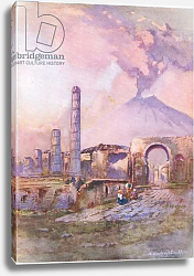 Постер Брюль Луи Pompeii: Vesuvius in the distance, from Hutchinson's Picturesque Europe published by Hutchinson & Son, c.1930
