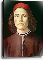 Постер Боттичелли Сандро (Sandro Botticelli) Portrait of a Young Man, c.1480-85
