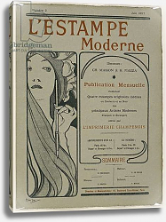 Постер Муха Альфонс Cover page: Cover page from L'Estampe moderne, June 1897