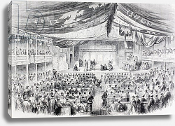 Постер A theatre in Osaka, Japan in the 1860's.