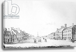 Постер Кинг Хайнц View of the Principal Street of Stockton in the County of Durham, 1796