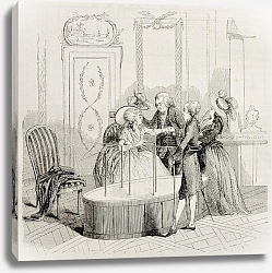 Постер Mesmer Baquet. By unidentified author after print of 1784, published on Magasin Pittoresque, Paris,