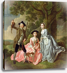 Постер Хейман Франсис George Rogers with his Wife, Margaret, and his Sister, Margaret Rogers, c.1748-50